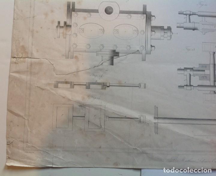 Libros antiguos: Año 1839 lote de 19 grandes laminas de Ferrocarril tren * incunable ferroviario * locomotoras * 61cm - Foto 58 - 186128423