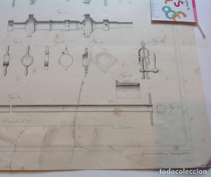 Libros antiguos: Año 1839 lote de 19 grandes laminas de Ferrocarril tren * incunable ferroviario * locomotoras * 61cm - Foto 60 - 186128423