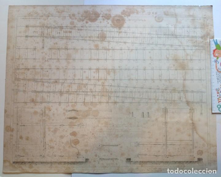 Libros antiguos: Año 1839 lote de 19 grandes laminas de Ferrocarril tren * incunable ferroviario * locomotoras * 61cm - Foto 62 - 186128423