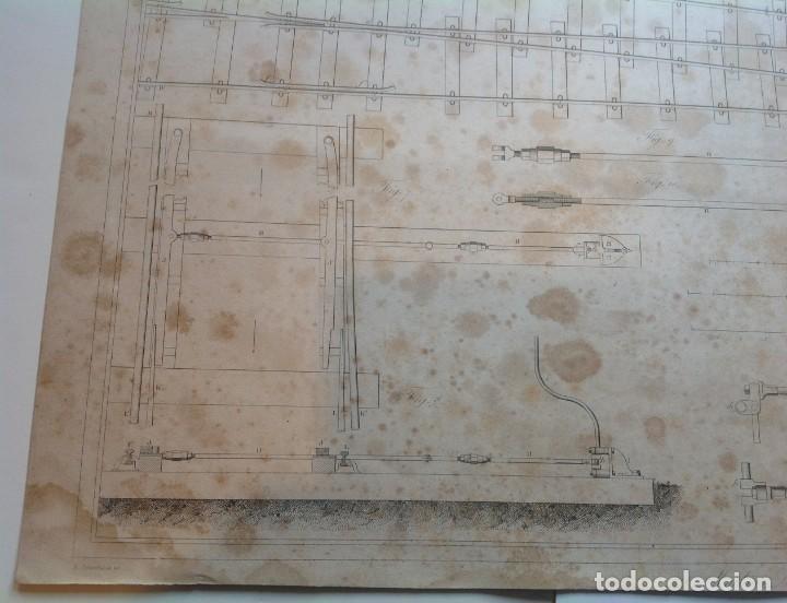 Libros antiguos: Año 1839 lote de 19 grandes laminas de Ferrocarril tren * incunable ferroviario * locomotoras * 61cm - Foto 64 - 186128423