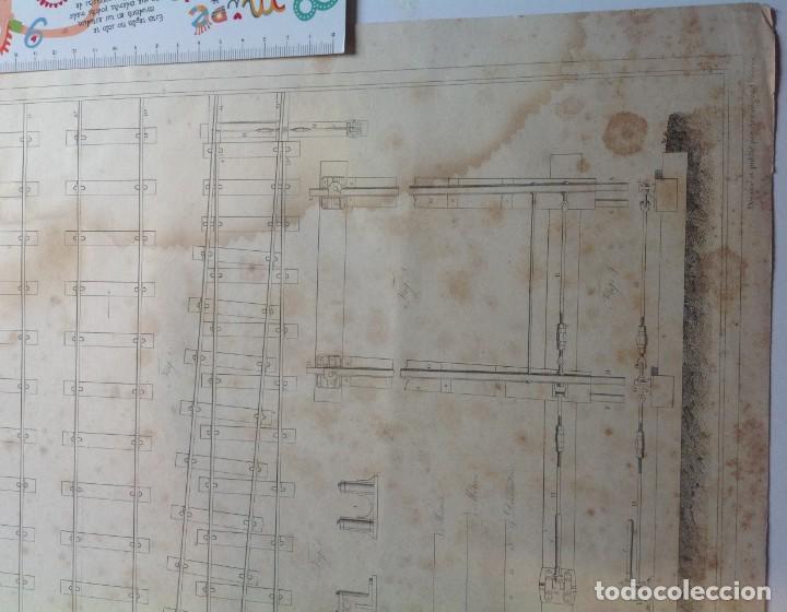 Libros antiguos: Año 1839 lote de 19 grandes laminas de Ferrocarril tren * incunable ferroviario * locomotoras * 61cm - Foto 65 - 186128423