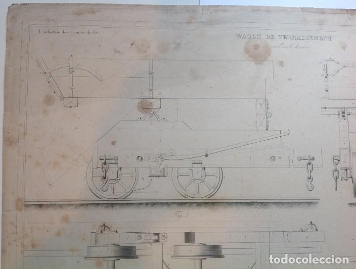 Libros antiguos: Año 1839 lote de 19 grandes laminas de Ferrocarril tren * incunable ferroviario * locomotoras * 61cm - Foto 67 - 186128423