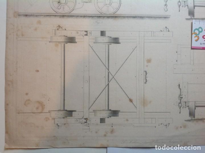 Libros antiguos: Año 1839 lote de 19 grandes laminas de Ferrocarril tren * incunable ferroviario * locomotoras * 61cm - Foto 68 - 186128423