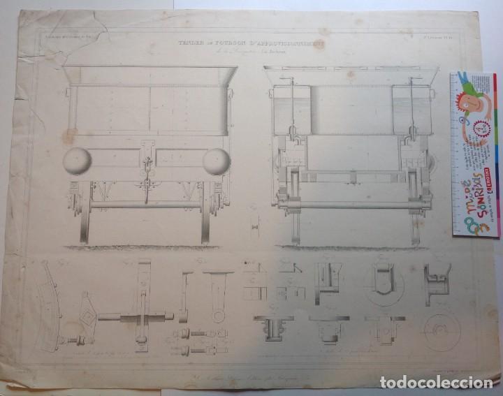 Libros antiguos: Año 1839 lote de 19 grandes laminas de Ferrocarril tren * incunable ferroviario * locomotoras * 61cm - Foto 70 - 186128423