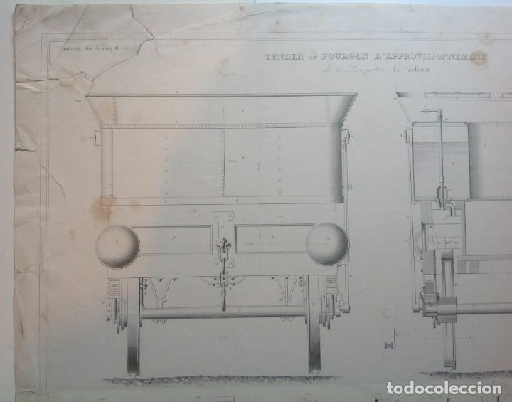 Libros antiguos: Año 1839 lote de 19 grandes laminas de Ferrocarril tren * incunable ferroviario * locomotoras * 61cm - Foto 71 - 186128423