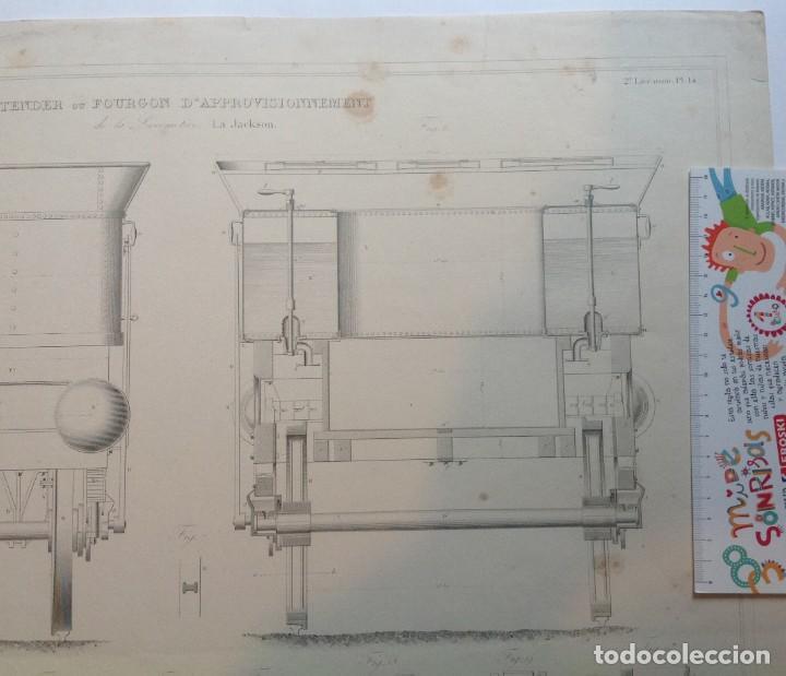 Libros antiguos: Año 1839 lote de 19 grandes laminas de Ferrocarril tren * incunable ferroviario * locomotoras * 61cm - Foto 72 - 186128423
