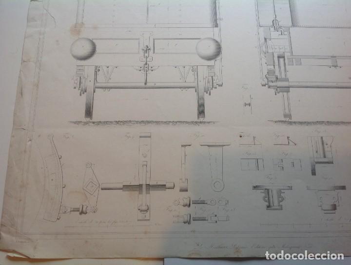Libros antiguos: Año 1839 lote de 19 grandes laminas de Ferrocarril tren * incunable ferroviario * locomotoras * 61cm - Foto 73 - 186128423