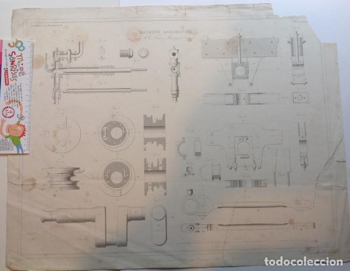 Libros antiguos: Año 1839 lote de 19 grandes laminas de Ferrocarril tren * incunable ferroviario * locomotoras * 61cm - Foto 76 - 186128423