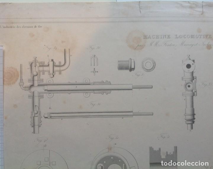 Libros antiguos: Año 1839 lote de 19 grandes laminas de Ferrocarril tren * incunable ferroviario * locomotoras * 61cm - Foto 77 - 186128423
