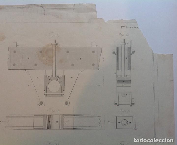 Libros antiguos: Año 1839 lote de 19 grandes laminas de Ferrocarril tren * incunable ferroviario * locomotoras * 61cm - Foto 78 - 186128423