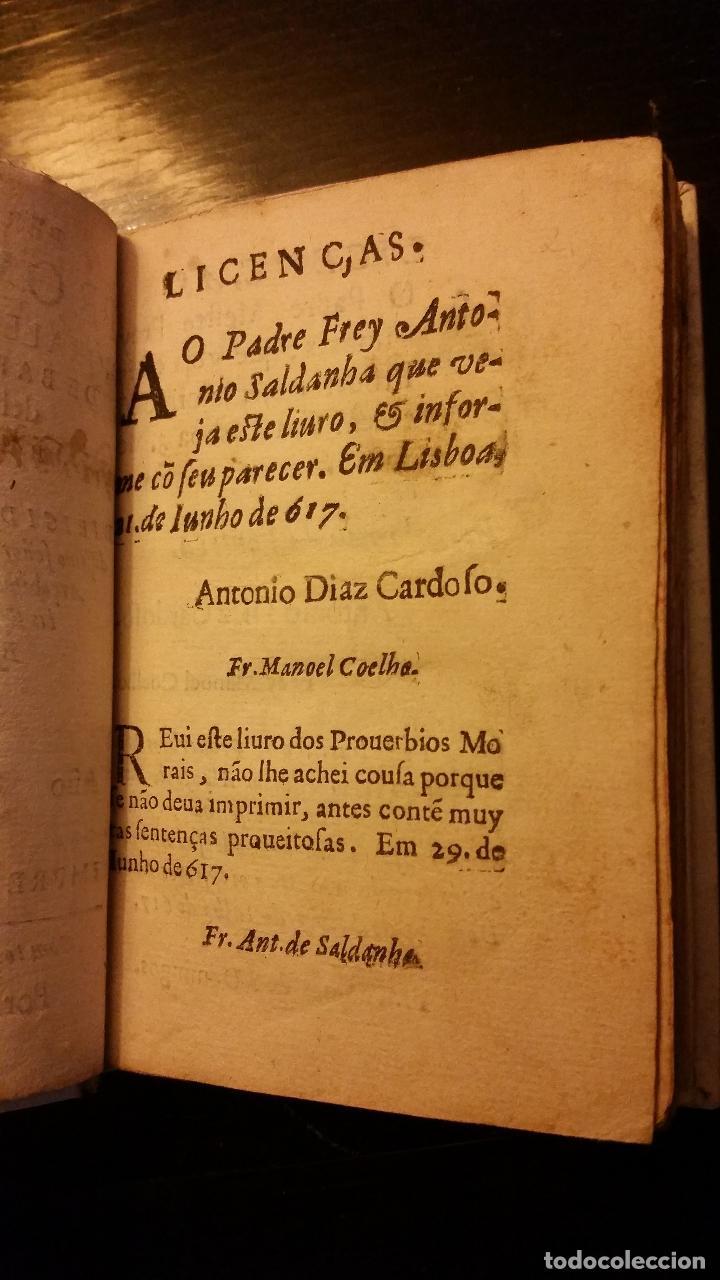 Libros antiguos: 1617 - ALONSO DE BARROS - PERLA DE LOS PROVERBIOS MORALES - LOPE DE VEGA, MATEO ALEMÁN - Foto 3 - 186168196