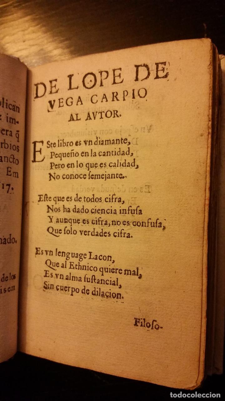 Libros antiguos: 1617 - ALONSO DE BARROS - PERLA DE LOS PROVERBIOS MORALES - LOPE DE VEGA, MATEO ALEMÁN - Foto 4 - 186168196