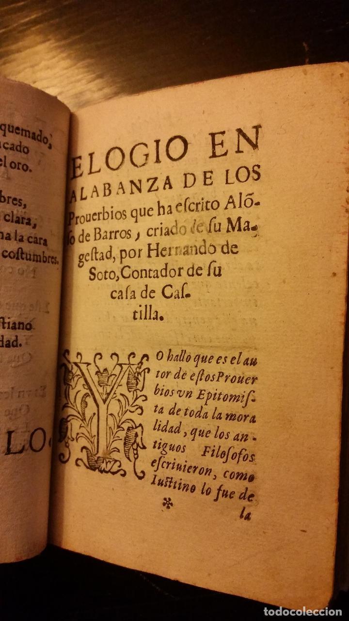 Libros antiguos: 1617 - ALONSO DE BARROS - PERLA DE LOS PROVERBIOS MORALES - LOPE DE VEGA, MATEO ALEMÁN - Foto 5 - 186168196