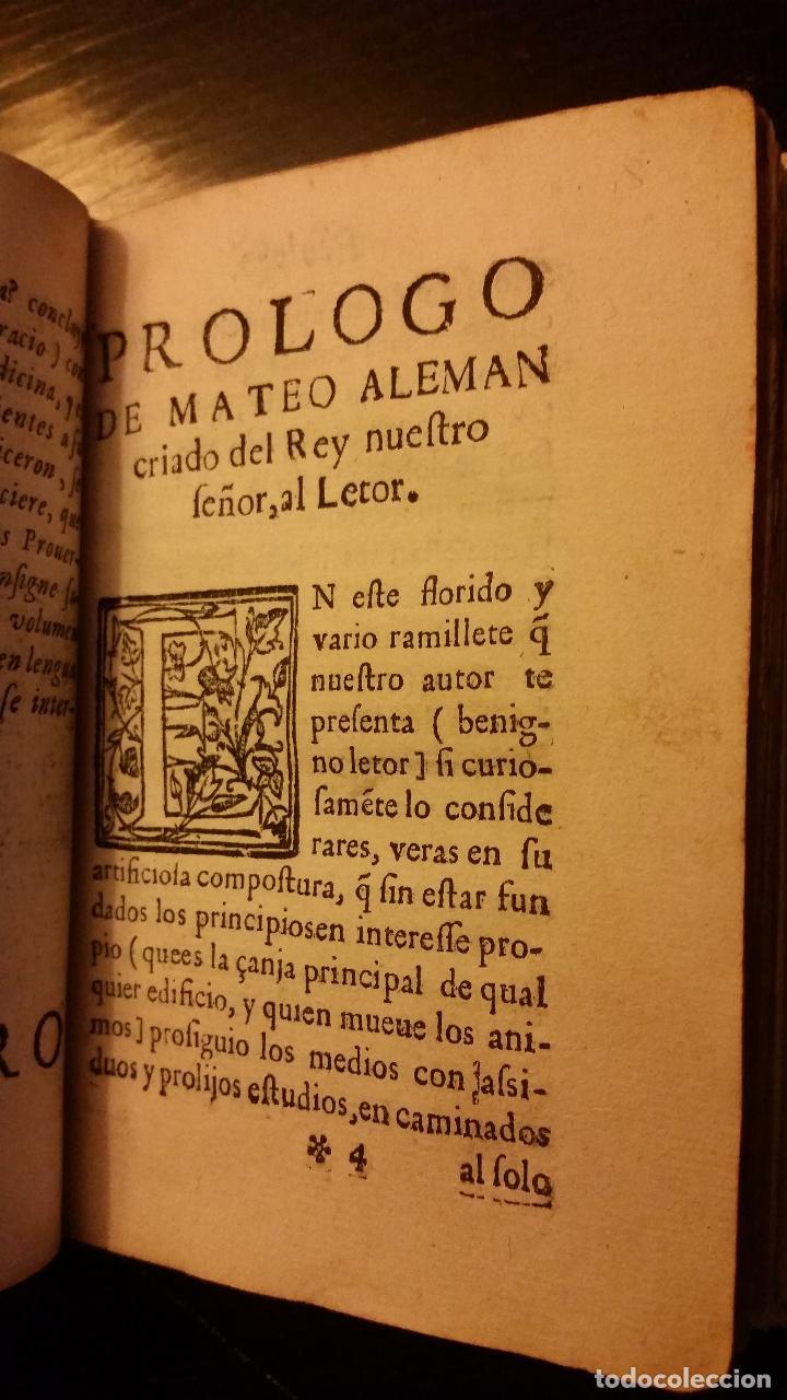 Libros antiguos: 1617 - ALONSO DE BARROS - PERLA DE LOS PROVERBIOS MORALES - LOPE DE VEGA, MATEO ALEMÁN - Foto 6 - 186168196