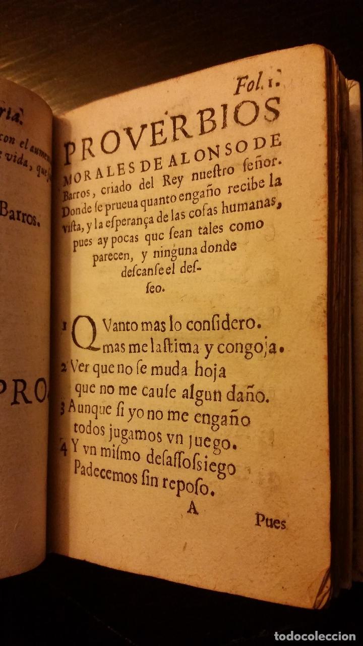 Libros antiguos: 1617 - ALONSO DE BARROS - PERLA DE LOS PROVERBIOS MORALES - LOPE DE VEGA, MATEO ALEMÁN - Foto 7 - 186168196
