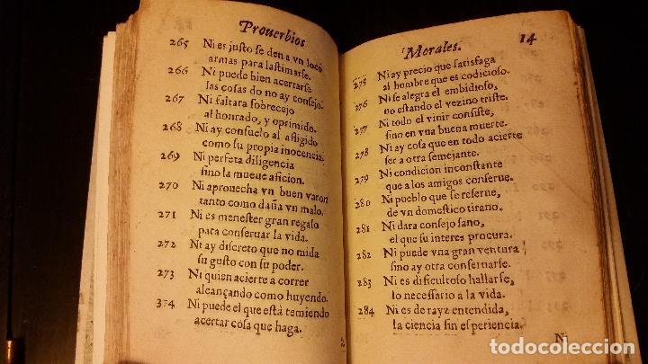 Libros antiguos: 1617 - ALONSO DE BARROS - PERLA DE LOS PROVERBIOS MORALES - LOPE DE VEGA, MATEO ALEMÁN - Foto 8 - 186168196