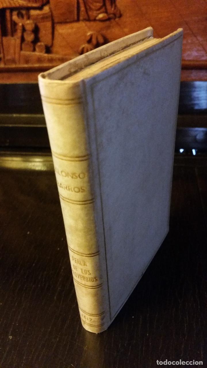 1617 - ALONSO DE BARROS - PERLA DE LOS PROVERBIOS MORALES - LOPE DE VEGA, MATEO ALEMÁN (Libros Antiguos, Raros y Curiosos - Ciencias, Manuales y Oficios - Otros)