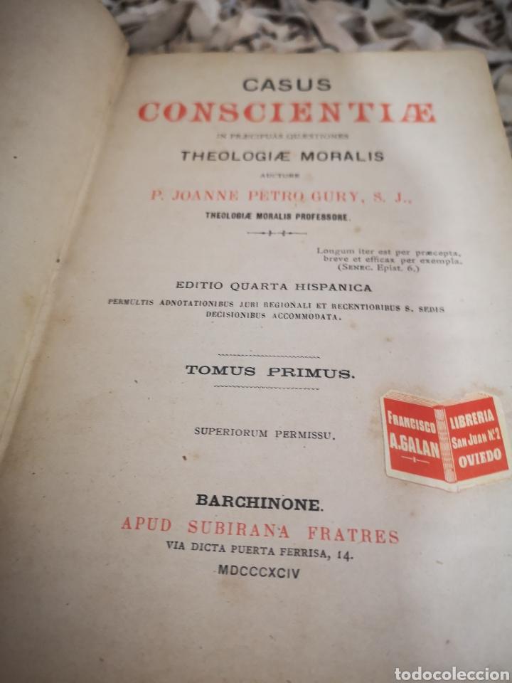 Libros antiguos: CASUS CONSCIENTIAE-P. JOANNE PETRO GURY-TOMO 1 y 2 - Foto 2 - 186181121