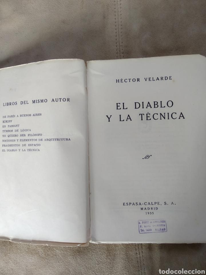 Libros antiguos: El diablo y la técnica. Héctor Velarde. 1935 Prólogo de Ramón Gómez de la Serna - Foto 2 - 186214648