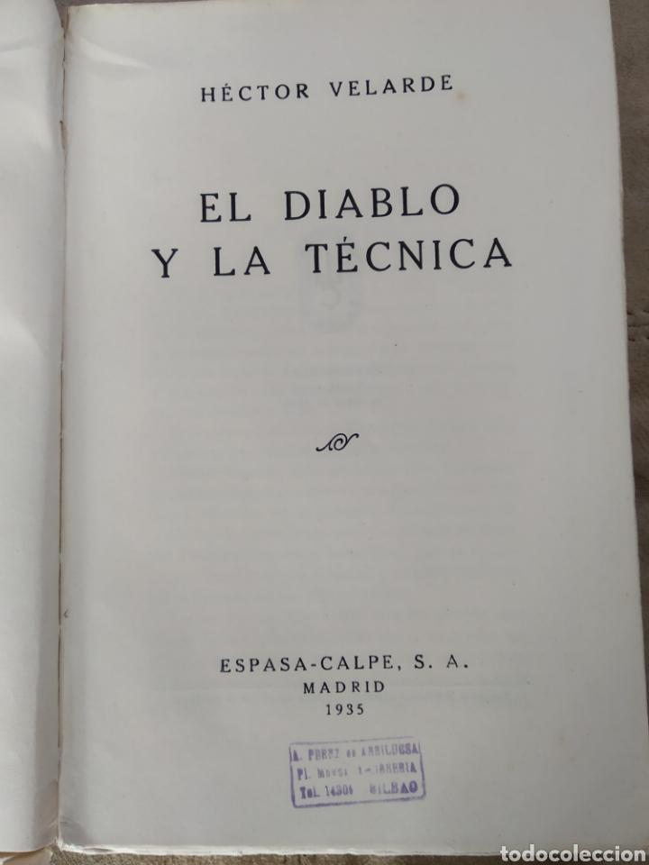 Libros antiguos: El diablo y la técnica. Héctor Velarde. 1935 Prólogo de Ramón Gómez de la Serna - Foto 3 - 186214648