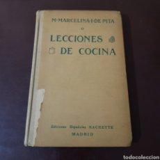 Libros antiguos: LECCIONES DE COCINA 1912 MARCELINA I DE PITA. Lote 186285838