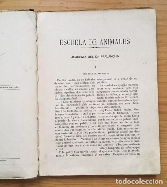 Libros antiguos: LIBRO ESCUELA DE ANIMALES original de S.H. HAMER año 1936 Ilustrado por HARRY B.NIELSON - Foto 2 - 186290517