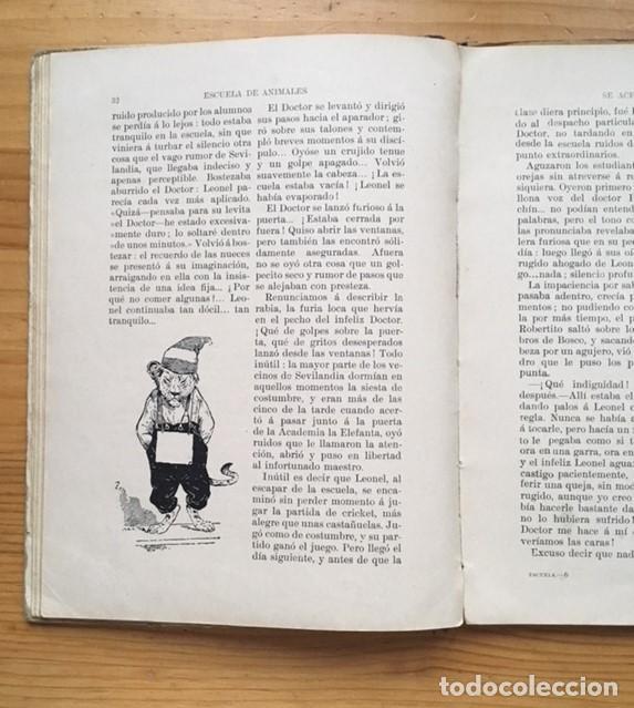 Libros antiguos: LIBRO ESCUELA DE ANIMALES original de S.H. HAMER año 1936 Ilustrado por HARRY B.NIELSON - Foto 4 - 186290517