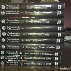 Libros antiguos: ENCICLOPEDIA PATRIMONIO DE LA HUMANIDAD - PLANETA - 10 VOL. + 3 GUÍAS DE VIAJE. Lote 186309153