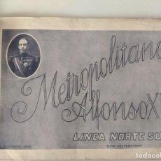 Libros antiguos: AÑOS 20 ALBUM FERROCARRIL METROPOLITANO ALFONSO XIII - LINEA NORTE SUR METRO EDITOR FIDE - GRAFOS. Lote 186314435