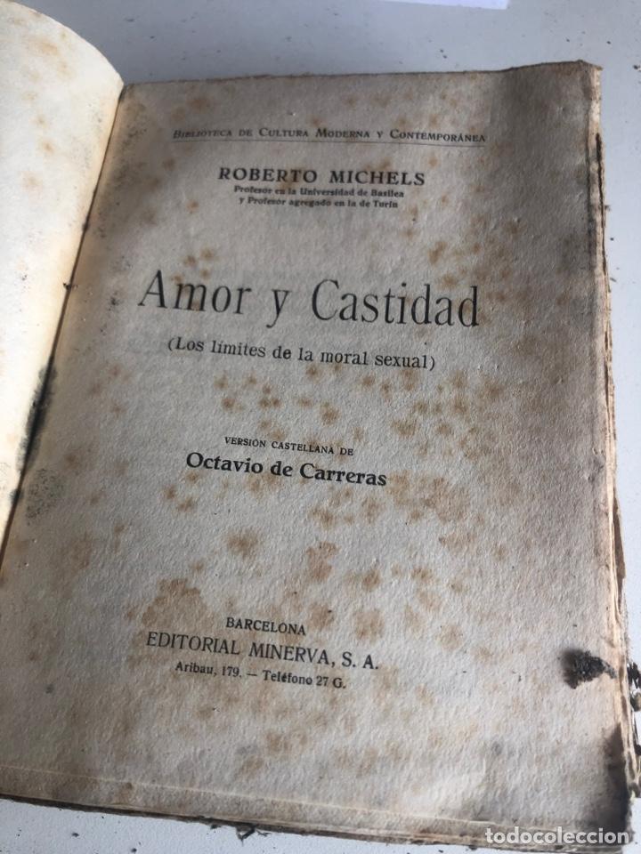 Libros antiguos: Amor y castidad - Foto 2 - 186388455