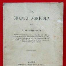 Libros antiguos: LA GRANJA AGRICOLA. AÑO: 1879. MADRID. LUIS ÁLVAREZ ALVISTUR.. Lote 186397660
