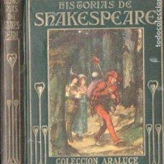 Libros antiguos: ARALUCE : HISTORIAS DE SHAKESPEARE (1914). Lote 187094705
