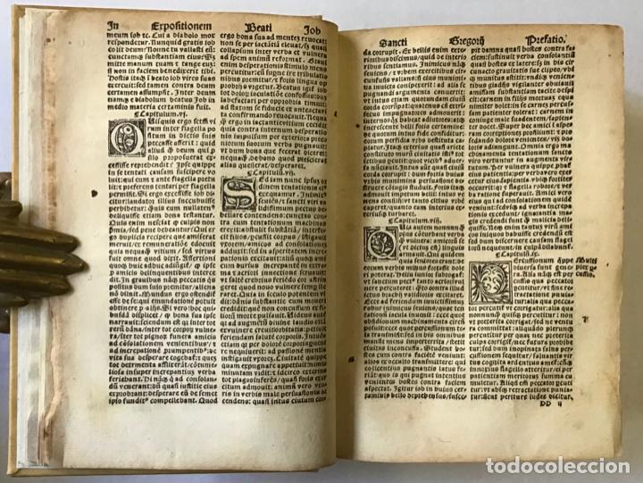 Libros antiguos: GÓTICO 1530. MORALIA GREGORII. SANCTI GREGORII MAGNI ... LIBER MORALIUM IN BEATUM JOB... - Foto 2 - 187162103