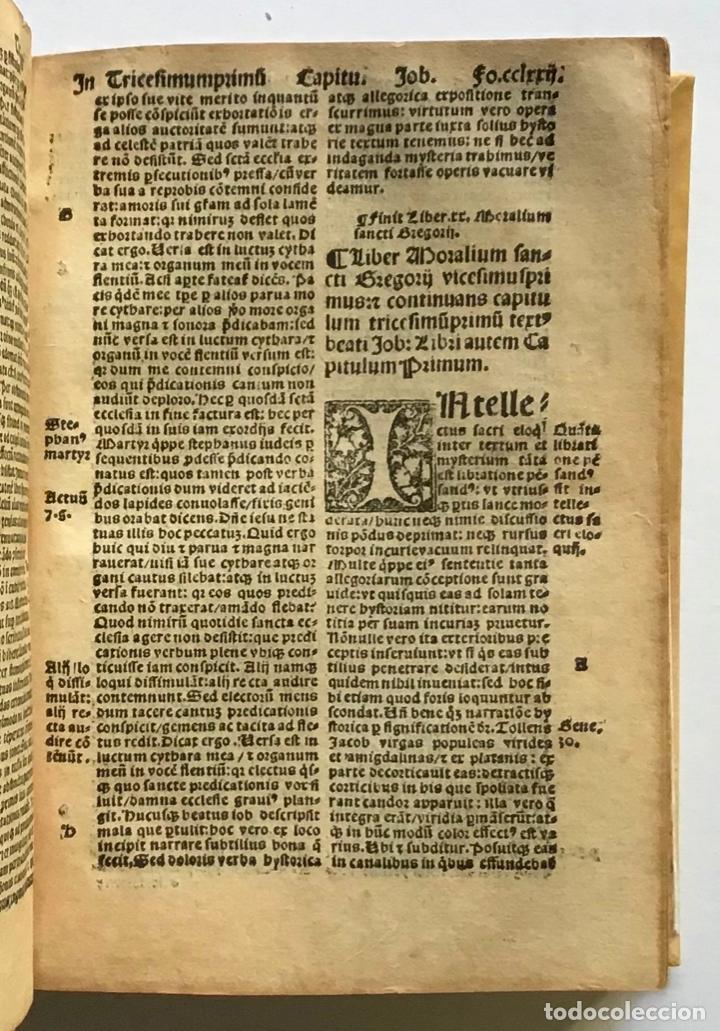Libros antiguos: GÓTICO 1530. MORALIA GREGORII. SANCTI GREGORII MAGNI ... LIBER MORALIUM IN BEATUM JOB... - Foto 3 - 187162103