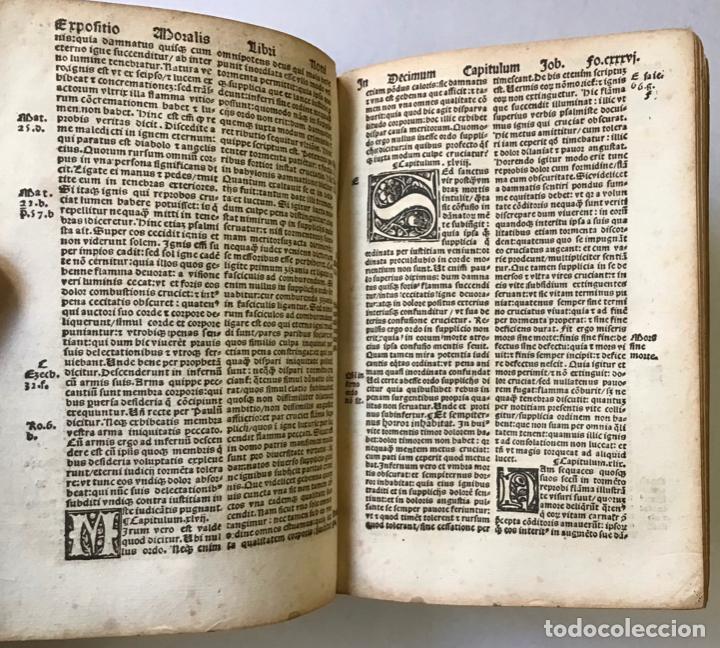 Libros antiguos: GÓTICO 1530. MORALIA GREGORII. SANCTI GREGORII MAGNI ... LIBER MORALIUM IN BEATUM JOB... - Foto 4 - 187162103