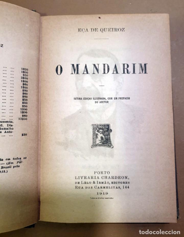 Libros antiguos: O MANDARIM - EÇA DE QUEIROZ - SETIMA EDIÇAO ILUSTRADA CON PREFACIO DO AUCTOR - 1919 - Foto 2 - 187232360