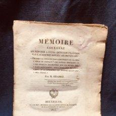 Libros antiguos: GEOLOGIA BELGICA BELGIQUE CONSTITUTION GEOLOGIQUE PROVINCE HAINAUT DRAPIEZ 1823 27X22CMS. Lote 187354486