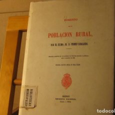Libros antiguos: FOMENTO DE LA POBLACIÓN RURAL. FERMIN CABALLERO. 1864. Lote 187382888