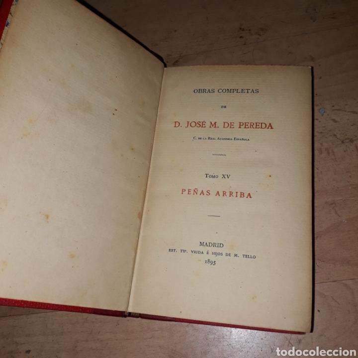 Libros antiguos: José María Pereda, Peñas Arriba, Madrid 1895, tomo XV - Foto 2 - 187389918