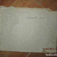 Libros antiguos: ALICANTE LIBRO ORIGINAL INEDITO ANTIGUO HIOSTORICO SOCIAL REF HECHOS GUERRA CIVIL CIRCA 1940. Lote 58836225