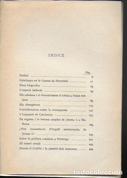 Libros antiguos: Recerques i comentaris I (Història de Catalunya) / Ferran Soldevila. BCN : Catalonia, 1929. 20x14cm. - Foto 3 - 187483647