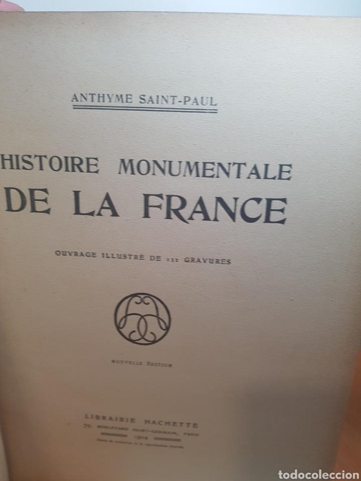 Libros antiguos: Histoire Monumentale de la France - 1924 - Foto 2 - 187488178