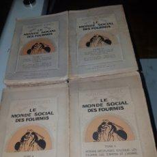 Libros antiguos: TOMOS 1 2 4 Y 5 LE MONDE SOCIAL DES FOURMIS 1923. Lote 187499341