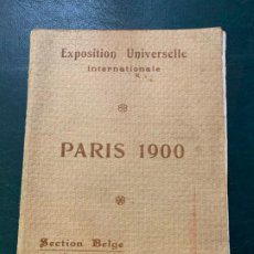 Livros antigos: EXPOSITION UNIVERSELLE INTERNATIONALE PARIS 1900 . SECTION BELGE DES BEAUX.ARTS. Lote 187583676