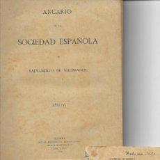 Libros antiguos: ANUARIO DE LA SOCIEDAD ESPAÑOLA DE SALVAMENTO DE NAUFRAGOS Y 2 RECIBOS QUOTA AÑO 1982-84 - TARRAGONA. Lote 187586525