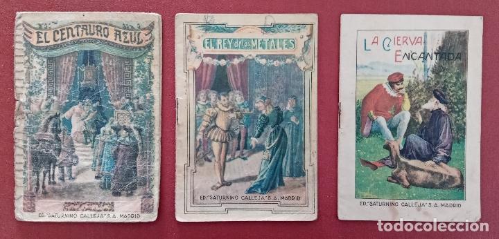 Libros antiguos: LOTE DE 11 LIBRITOS CUENTOS DE SATURNINO CALLEJA. LA TORTA, CAZUELAS QUE HABLAN.....VER FOTOS - Foto 3 - 187586548