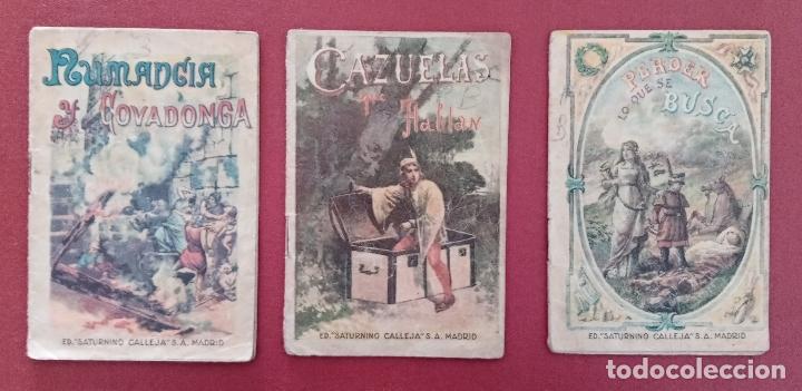 Libros antiguos: LOTE DE 11 LIBRITOS CUENTOS DE SATURNINO CALLEJA. LA TORTA, CAZUELAS QUE HABLAN.....VER FOTOS - Foto 5 - 187586548