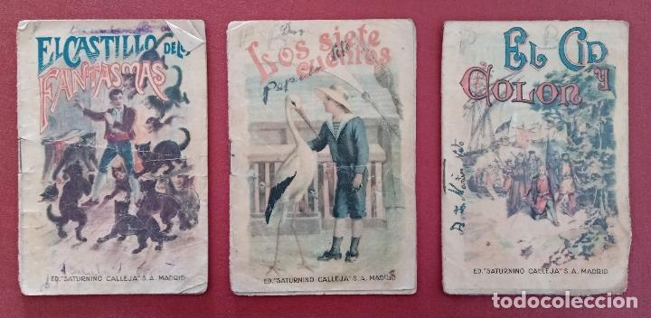 LOTE DE 11 LIBRITOS CUENTOS DE SATURNINO CALLEJA. LA TORTA, CAZUELAS QUE HABLAN.....VER FOTOS (Libros Antiguos, Raros y Curiosos - Literatura Infantil y Juvenil - Otros)
