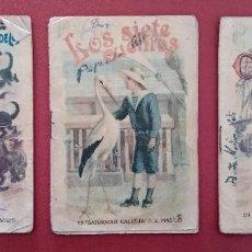 Libros antiguos: LOTE DE 11 LIBRITOS CUENTOS DE SATURNINO CALLEJA. LA TORTA, CAZUELAS QUE HABLAN.....VER FOTOS. Lote 187586548
