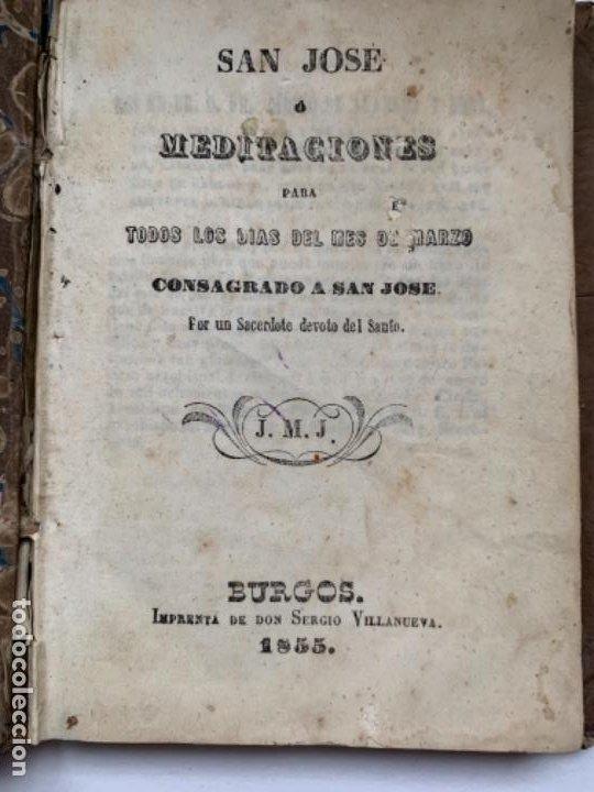 SAN JOSÉ O MEDITACIONES PARA TODOS LOS DÍAS DEL MES DE MARZO (Libros Antiguos, Raros y Curiosos - Ciencias, Manuales y Oficios - Otros)